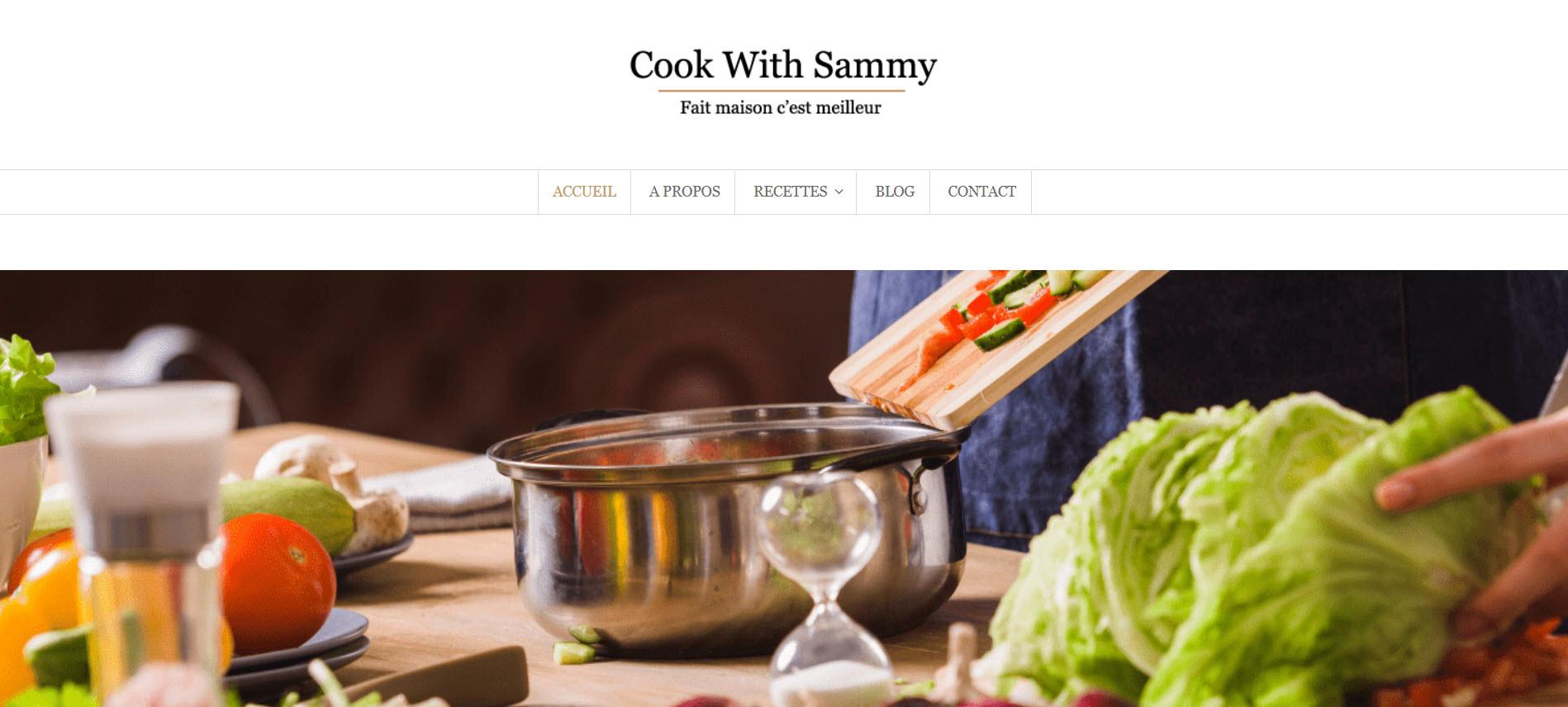 Création du blog de cuisine Cook With Sammy