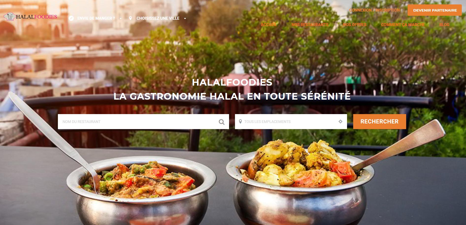Création de la plateforme de commande en ligne Halalfood.com